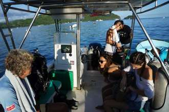 Unser Tauchboot zu den Bat islands Costa Rica
