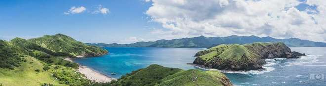 Spectacular panoramic view of the Bat Islands in Costa Rica