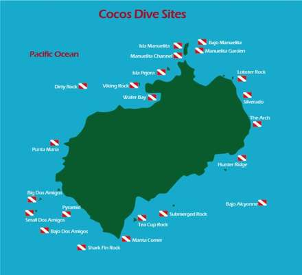 Dive sites Cocos island