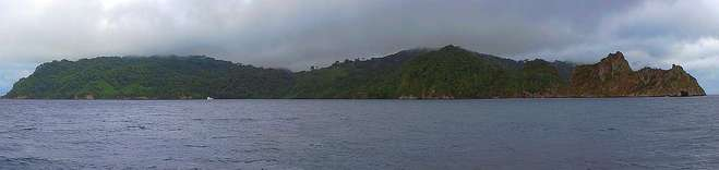 Panorama der Cocos Insel in Costa Rica