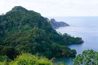 The Cocos Island located in the Costa Rican Pacific ocean
