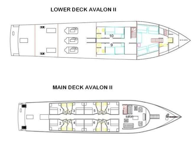 Deck Plan Avalon 2 Kuba Tauchexpeditionen