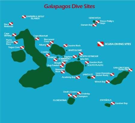 Galapagos Tauchplätze