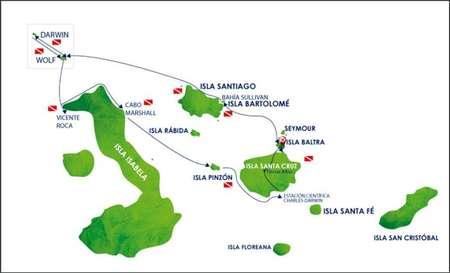 Reiseablauf Galapagos Tauchreise Astrea