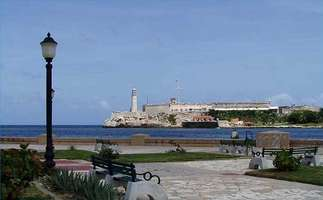 View on the pier of Havana Cuba