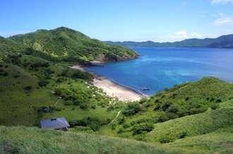 Ansicht von oben der Bat islands