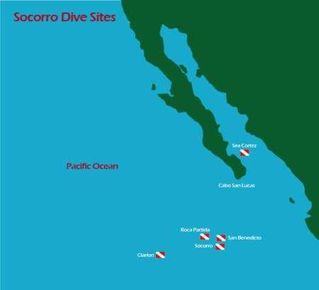 Tauchplätze Karte Socorro Inseln