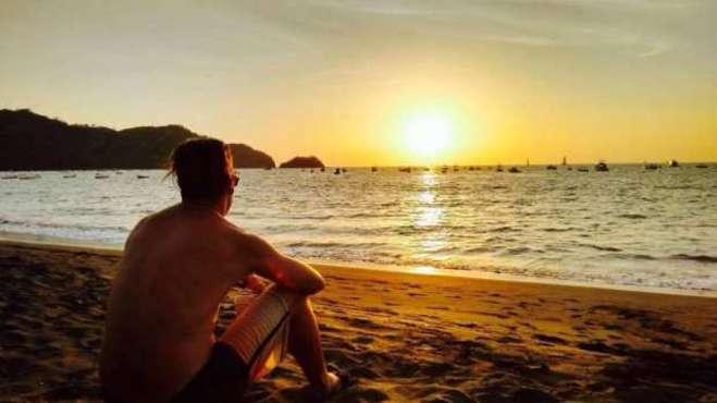 Sonnenuntergang in Playa de Coco Costa Rica
